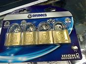 "BRINKS 161-40401 1-9/16"" 4 PACK SOLID BRASS LOCKS"